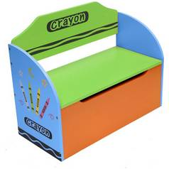 Kiddi Style Blue Crayon Toy Box & Bench