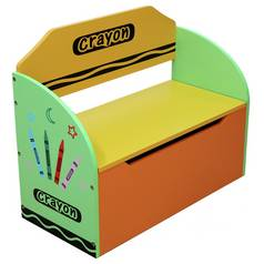 Kiddi Style Bebe Green Crayon Toy Box & Bench