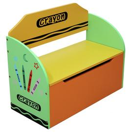 Kiddi Style Green Crayon Toy Box & Bench