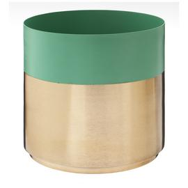 Argos Home Rainforest Large Gold Effect Planter