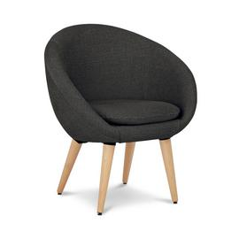 Argos Home Fabric Pod Chair - Charcoal