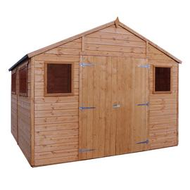Mercia Wooden 10 x 10ft Shiplap 6 Glazed Window Workshop