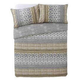 Argos Home Mono Textured Stripe Bedding Set - Double