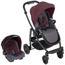 Graco Evo Travel System - Crimson
