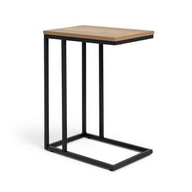 Habitat Loft Living C Shaped Table - Light Oak Effect