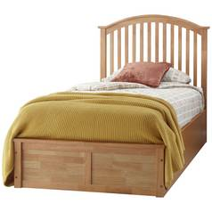 GFW Madrid Oak Effect Ottoman Single Bed Frame