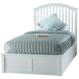 GFW Madrid Ottoman Single Bed Frame - White