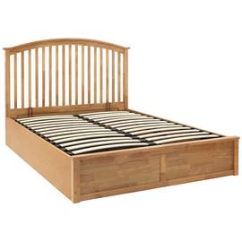 GFW Madrid Ottoman Double Bed Frame - Oak Effect