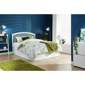 GFW Madrid Ottoman Double Bed Frame - White