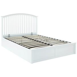 GFW Madrid White Ottoman Kingsize Bed Frame