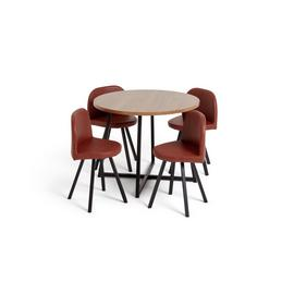 Habitat Nomad Oak Effect Dining Table & 4 Chairs