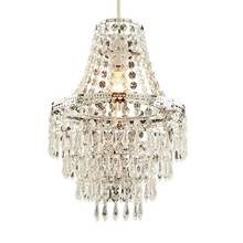 Argos Home Terri Chrome & Clear 5 Tier Beaded Shade