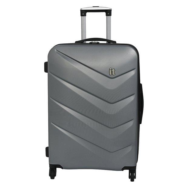 9101a2f2433f Buy it Luggage Medium Expandable 4 Wheel Hard Suitcase - Silver   Suitcases    Argos