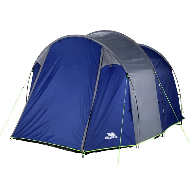 Trespass 4 Man 2 Room Tunnel Camping Tent