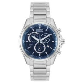 Citizen Blue Dial Mens Stainless Steel Watch