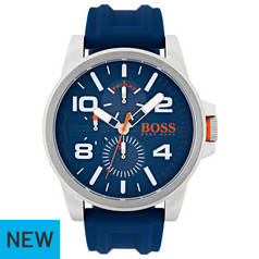 Hugo Boss Orange Blue Dial Silicone Strap Watch