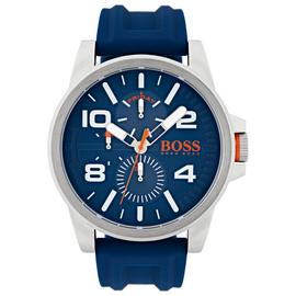 Boss Orange Blue Silicone Strap Watch