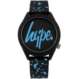 Hype Black Dial Silicone Strap Watch