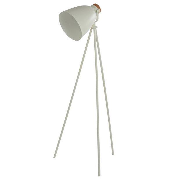 Buy Argos Home Stockholm Cream Tripod Floor Lamp | Floor lamps | Argos