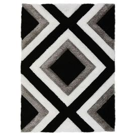 Fresno Diamond Rug - 80x150cm - Black