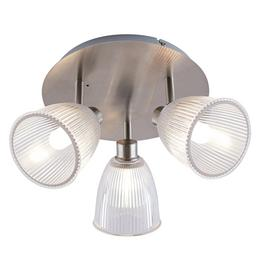 Argos Home Bremont Chrome & Glass 3 Light Ceiling Light