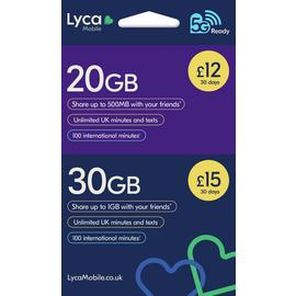 Lyca 9GB Pay As You Go Sim Card