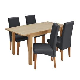 Habitat Clifton Oak Extending Dining Table & 4 Chairs