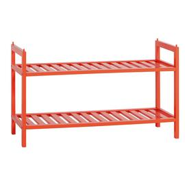 Habitat Kitt Bamboo 2 Shelf Shoe Rack - Orange