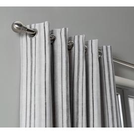 Habitat Striped Unlined Eyelet Curtains