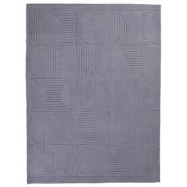 Argos Home Carved Circles Rug - 120x160cm - Grey