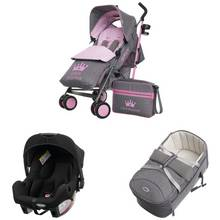 Obaby Zeal 3 in 1 Travel System - Little Princess