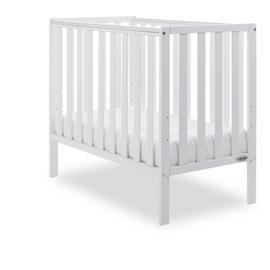 Obaby Bantam Space Saver Cot and Foam Mattress - White