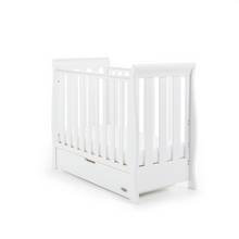Obaby Stamford Space Saver Cot & Sprung Mattress - White