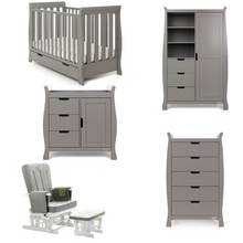 Obaby Stamford Mini 5 Piece Set - Taupe Grey