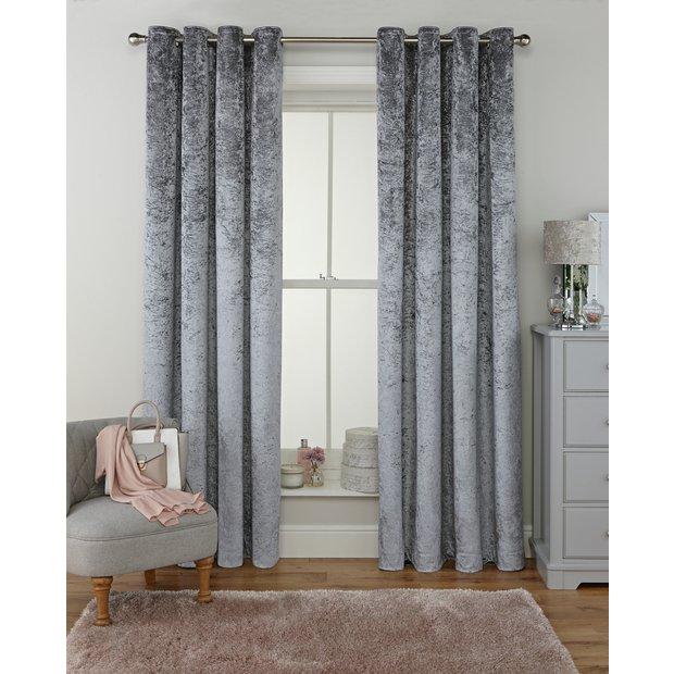 Buy Argos Home Velvet Lined Eyelet Curtains Grey Curtains Argos
