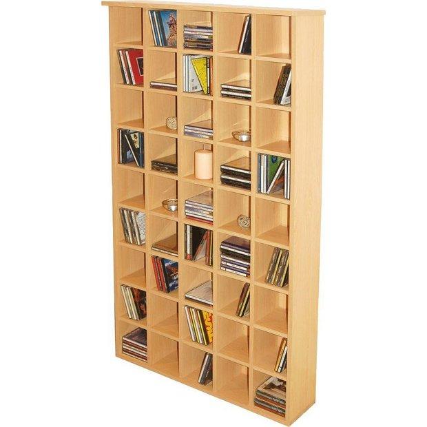 buy pigeon hole cd storage unit beech at. Black Bedroom Furniture Sets. Home Design Ideas