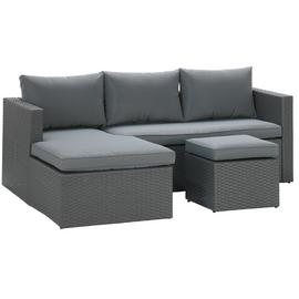 Argos Home Rattan Effect Reversible Mini Corner Sofa - Grey