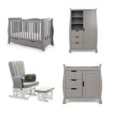 Obaby Stamford Luxe 3 Piece Set & Deluxe Chair - Taupe Grey