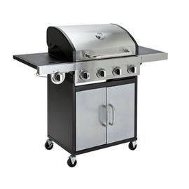 Argos Home Deluxe 4 Burner Steel Gas BBQ