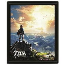 Legend of Zelda Sunset Framed 3D Poster