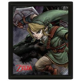 Legend of Zelda Twilight Princess Framed 3D Poster