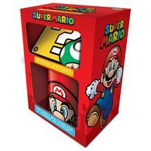 Super Mario Mug, Coaster and Keychain Gift Set