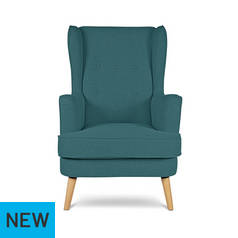 Argos Home Callie Fabric Wingback Chair - Teal