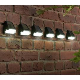 Argos Home Set of 6 Black Solar Fence Lights