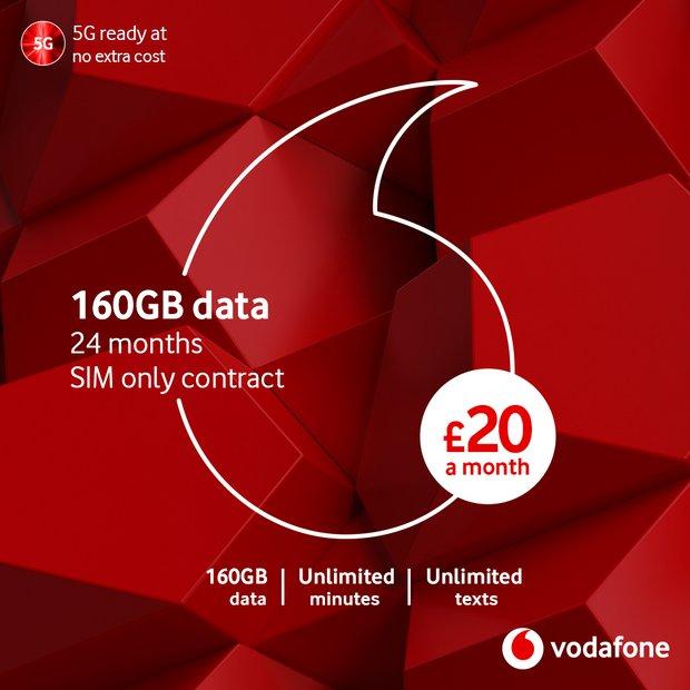 Buy Vodafone 20GB data SIM with Entertainment 12 Month Sim Card | Mobile  phone SIM cards | Argos