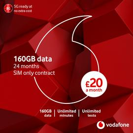 Vodafone 20GB data SIM with Entertainment 12 Month 5G Sim