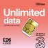 Three 1 Month Contract Sim Unlimited Data