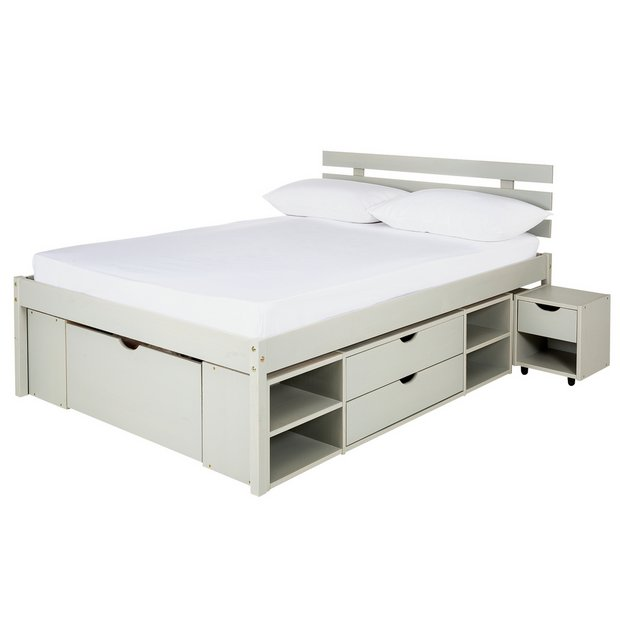 26752a5b928a Argos Home Ultimate Storage Grey Small Double Bed Frame872/7220