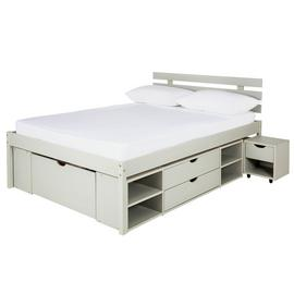 Argos Home Ultimate Storage Grey Small Double Bed Frame