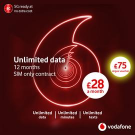 Vodafone 12 Month Contract Unlimited Data 5G Max SIM Card
